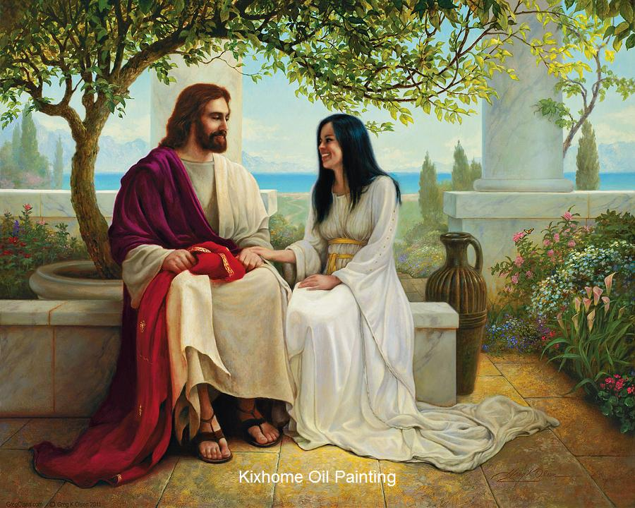 2019 Jesus Christ Painting White As Snow Jesus Large Canvas Religion