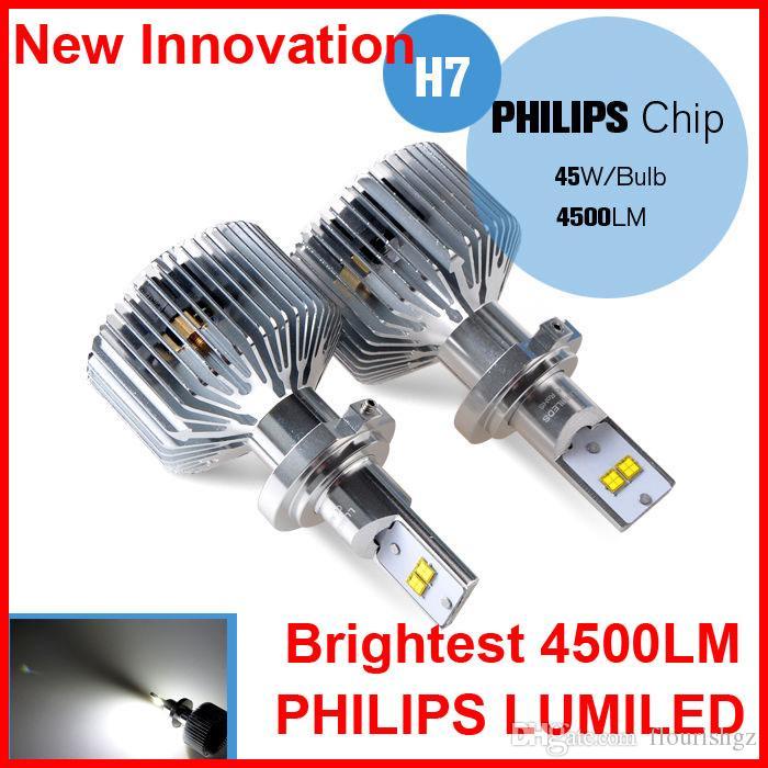 H8 Blanc Kit Ampoule H16 H7 9007 Pilote Sets 90w H4 4500lm Lumiled Led 45w 9004 Paire 2 Phare 12 Arrière H13 24v P8n0wkO