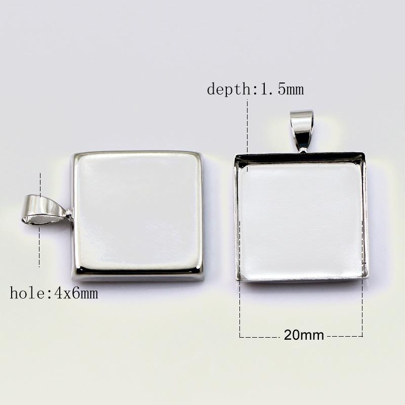 Beadsnice pendant trays circle blank bezel setting fit for cabochon and resin jewelry accessories brass pendant base
