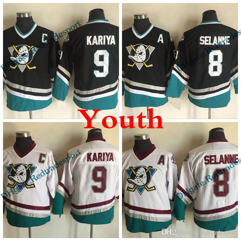 2019 Youth Mighty Ducks Retro 8 Teemu Selanne 9 Paul Kariya Hockey Jerseys  Kids Anaheim Ducks Vintage CCM Purple Stitched Jersey Cheap From  Redtradesport 90c69e31a