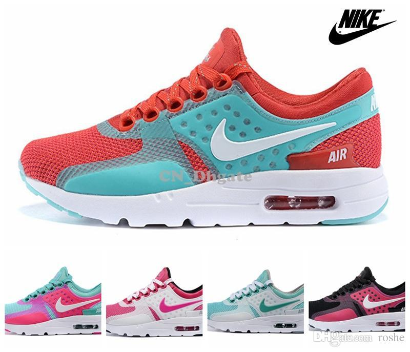 save off e94df a0f20 Nike Air Max Zero Before The One White Pink Green Black Red Multi Color  Women Running Shoes, Brand New Airmax Maxes Max 36 40 Running Shoes Online  ...