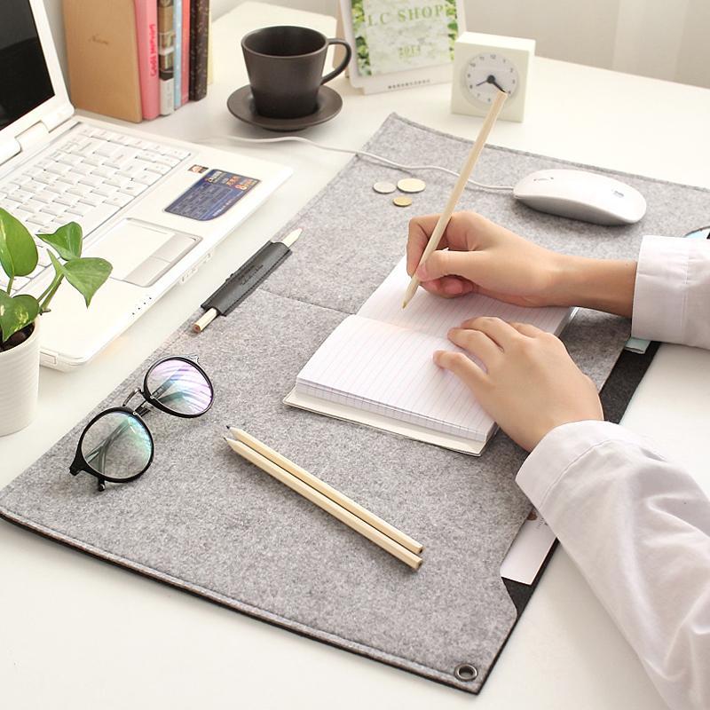 2017 two sided hair felt organizer home office mat desktop
