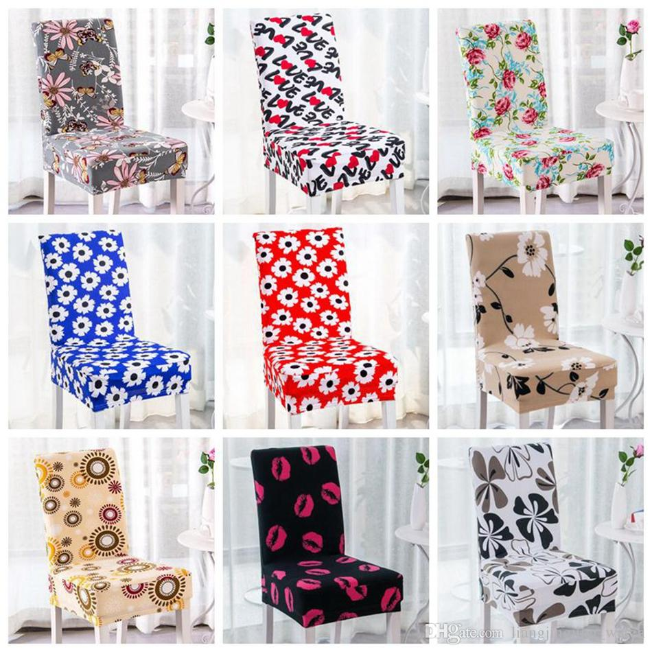 Floral Printing Chair Cover Home Dining Multifunctional Spandex ...