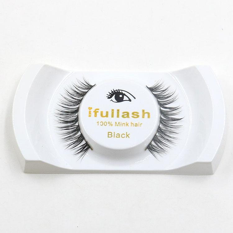 100% Mink Hair False Eyelashes Handmade Natural Long Thick Mink Fur Eyelashes Fake Eye Lash extensions Black Full Strip With Package #L7