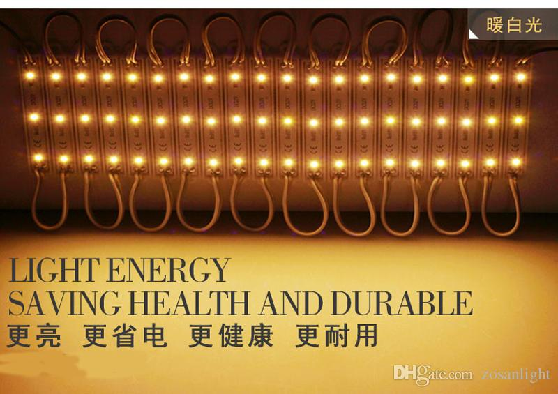 LED 모듈 조명 램프 SMD 5050 IP65 방수 LED 조명 모듈 로그인 문자 백 라이트 3 LED DC 12V 백라이트