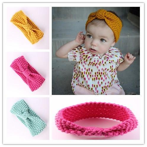 Baby Turban Knitted Headband Ear Warmers Knit Head Wrap Baby Girl