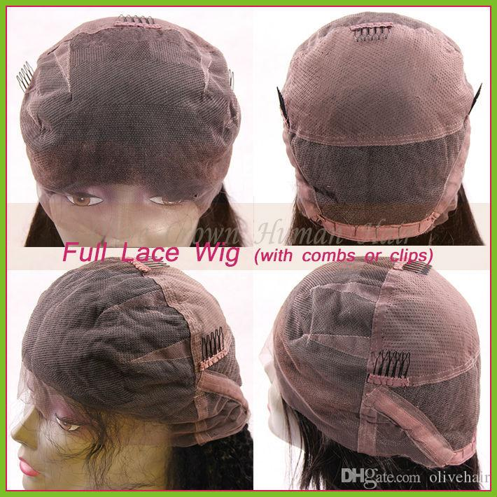 Короткие Glueless 100% Бразильские Человеческие Волосы Шелковистой Прямой Боб Кружева Фронт / Полный Парик Кружева Тяжелой Плотности Волос Младенца На Продажу