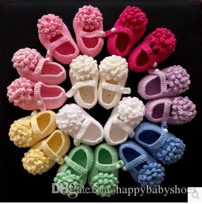 Knit Baby stivaletto all'uncinetto handmade bambina scarpe all'uncinetto prima passeggiata scarpa Primavera