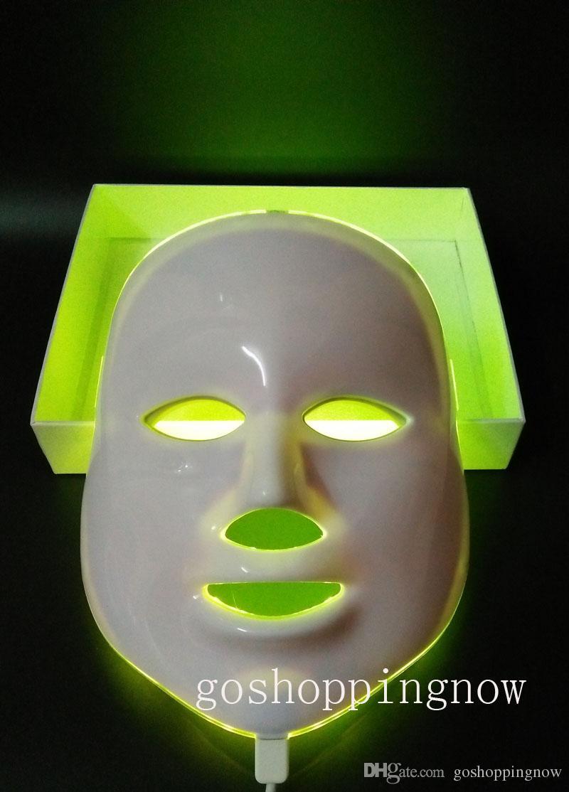 نوع محدث 7 ألوان الفوتون PDT أدى قناع الوجه العناية بالبشرة أزرق أخضر أحمر فاتح معدات العلاج الأجهزة الجمال