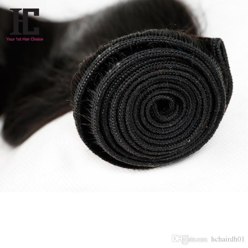 Grado 7A Capelli vergini peruviani dritto 100% vergine peruviana capelli lisci 4 fasci HC capelli prodotti peruviano tessuto dei capelli umani