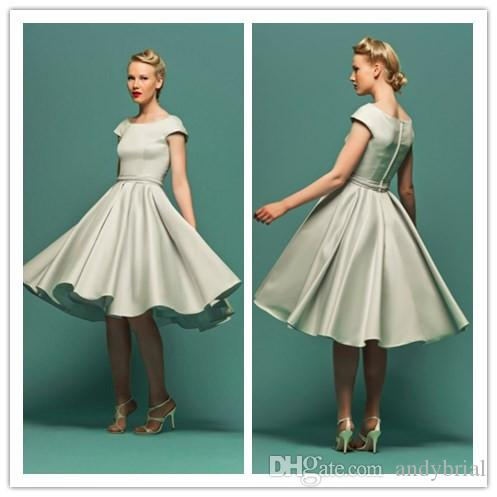 Knee length cap sleeve wedding dresses | Style wedding dress