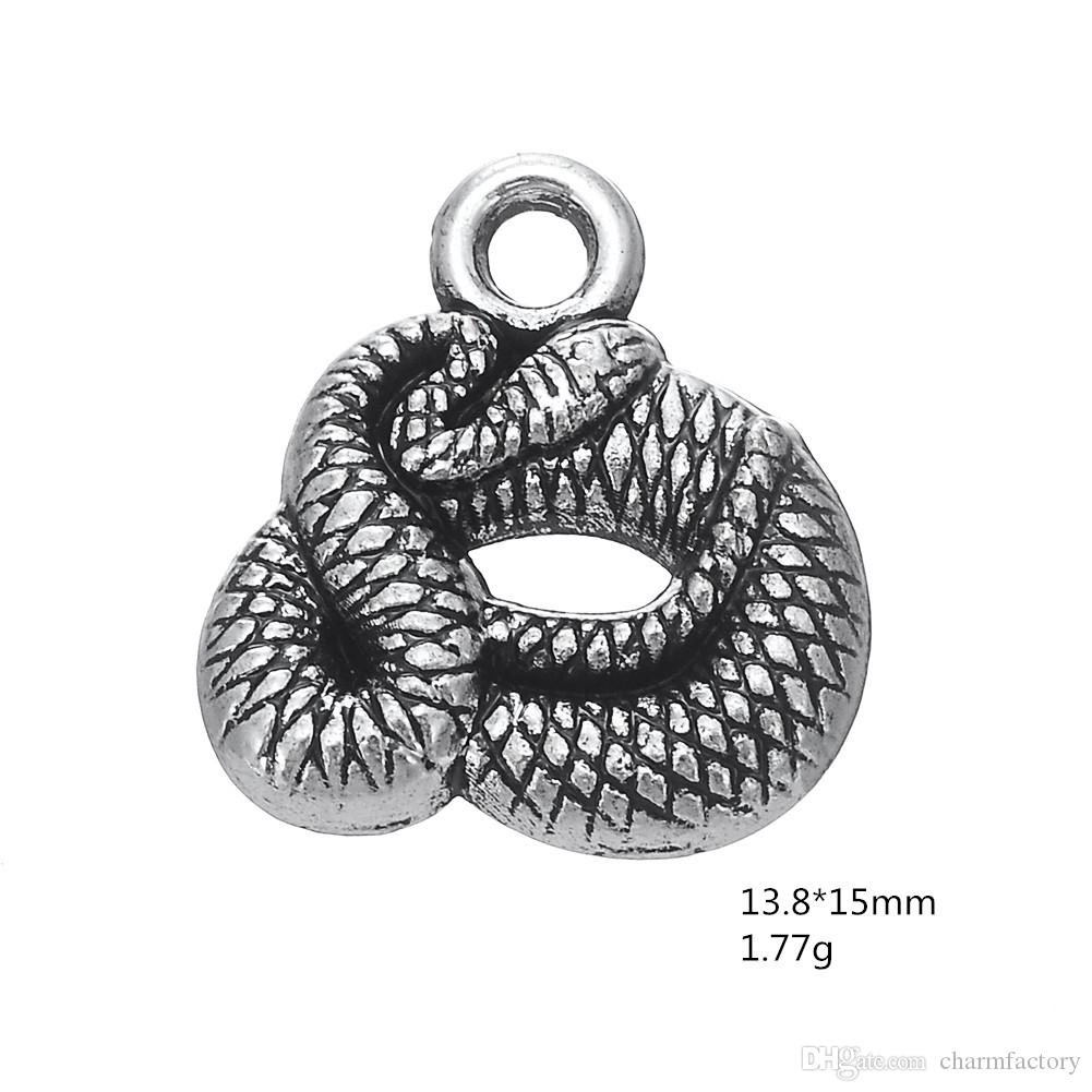 snake DIY special design Animal Accessory Charm Antique Silver Plated Charm DIY Necklace&Bracelet Jewelry Special style hot sell