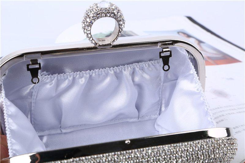 Factory Direct / retaill / Vente en gros à la main sac de soirée en cristal / embrayage satin / PU pour le mariage / banquet / fête / porm plus de couleurs