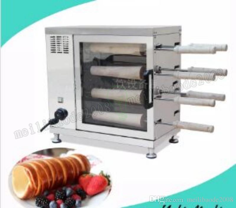 Дымоход торт ролл машина автоматическая жареная булочка машины электрические дымоход торт духовка для продажи 220В MYY