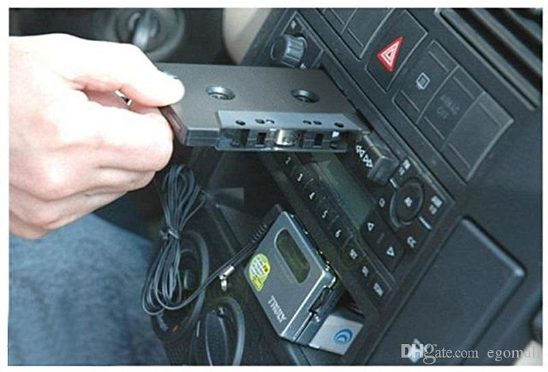 New transmitter Hot Car Tape Cassette to 3.5mm Aux Audio Adapter for iPhone iPad Samsung MP3 MP4 Player with retail box