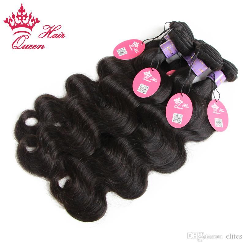 Queen Hair Offizielles Laden 4bundles Malaysische Jungfrau Menschliches Haar Verlängerung Weben 10 Zoll bis 28 Zoll Körperwelle DHL Schneller Versand