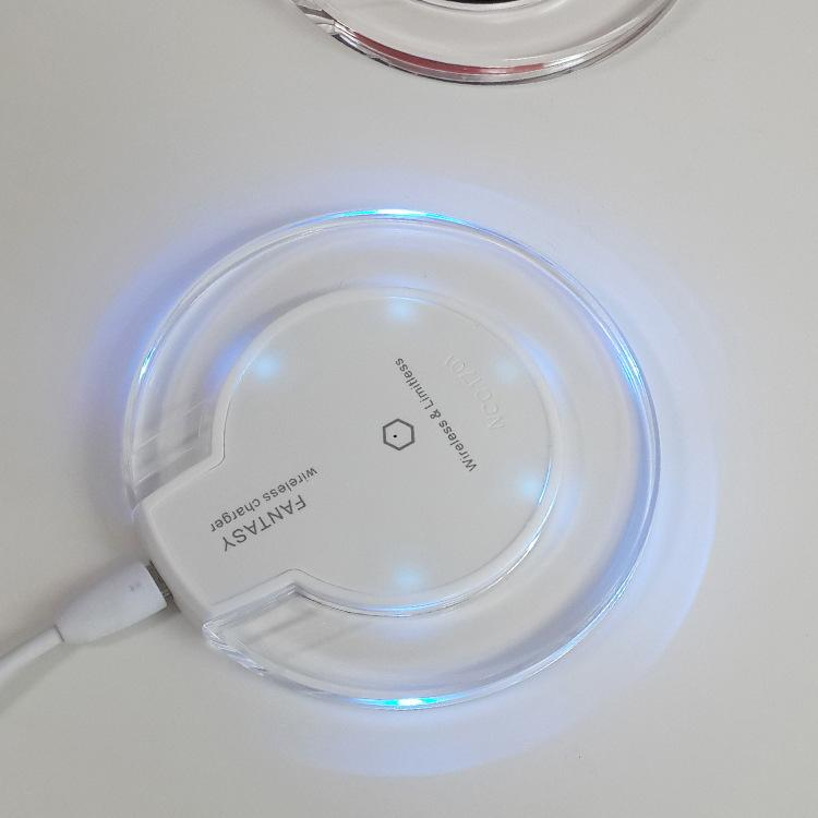Chargeur Sans Fil Crystal Fantasy Qi Pour iPhone X 8 Plus Cache de Charge Mini pour Samsung S6 S7 Edge Plus S8