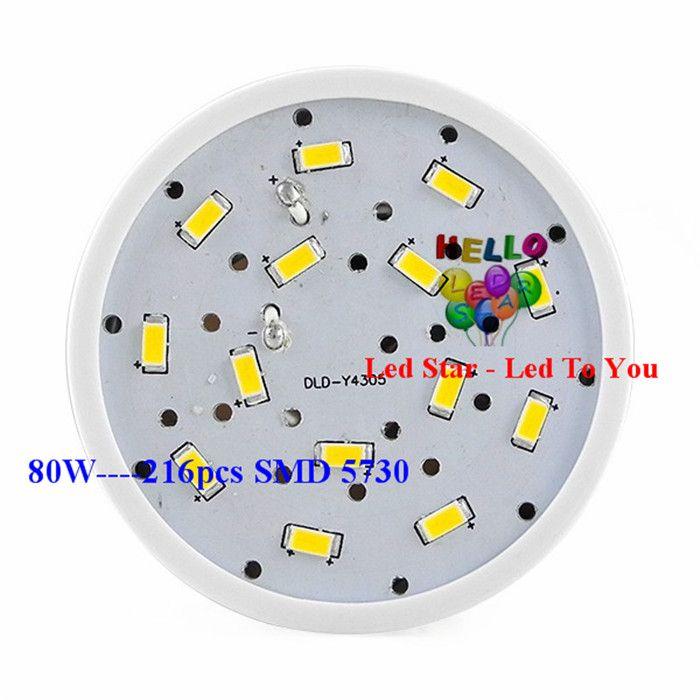 Süper Parlak 40 W 50 W 60 W 80 W Led Ampuller E27 E40 SMD 5730 Led Mısır Işıkları 360 Açı Led Kolye Aydınlatma AC 110-240 V