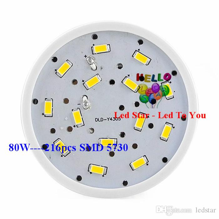 Super Bright 40W 50W 60W 80W lâmpadas LED E27 E40 SMD 5730 Led milho Luzes 360 Ângulo Led Lighting Pendant AC 110-240V