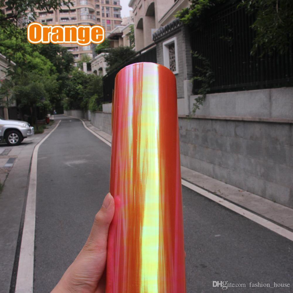 100*30cm Shiny Chameleon Auto Car Styling headlights Taillights Translucent film lights Turned Change Color Car film Stickers BY0000