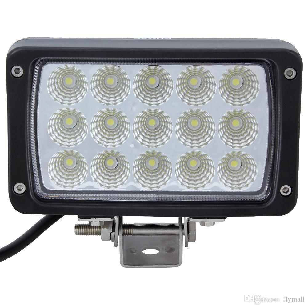 "6inch 45W 6"" LED Work Light Bar White Spot Flood Beam Lamp 4WD 4x4 ATV Boat Jeep Truck Car Working Light Lamp Off-road Light DHL FEDEX"