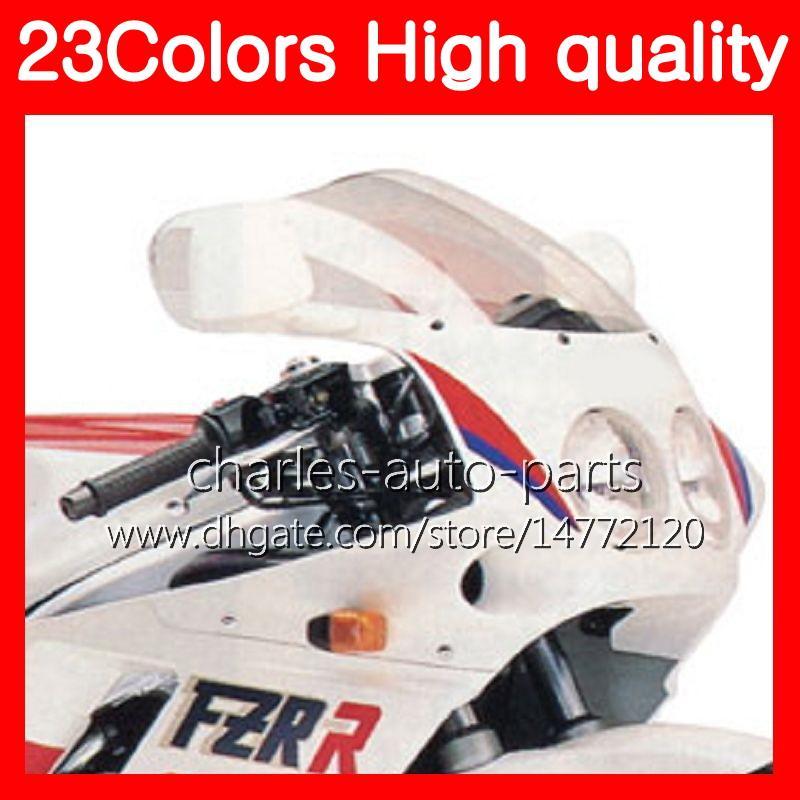100% новый мотоцикл ветровое стекло для YAMAHA FZR250R 86 87 88 89 FZR250 R 250 R FZR 250R 1986 1987 1988 89 хром Черный прозрачный дым лобовое стекло