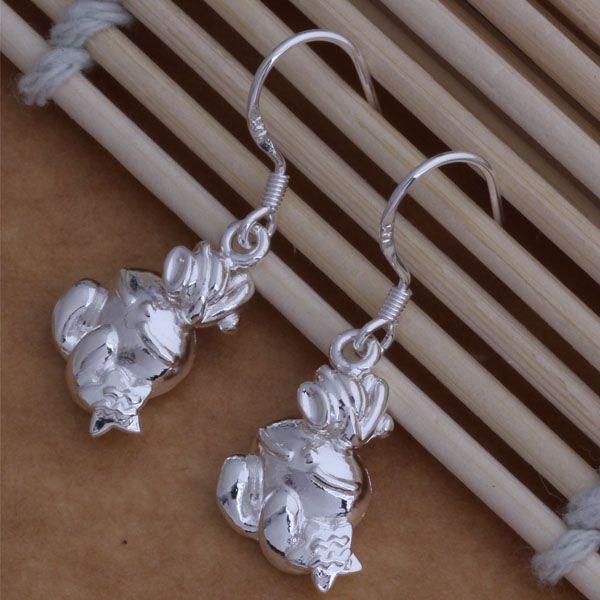 Мода производитель ювелирных изделий 40 шт. много животных серьги стерлингового серебра 925 заводская цена мода люстра блеск серьги