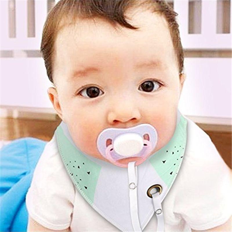 Toddler Bebek Emzik Klip ile Önlükler Unisex 20 adet Burp Bandana 100% Organik Pamuk Yumuşak Üçgen Eşarp Önlüğü Emzik Dahil