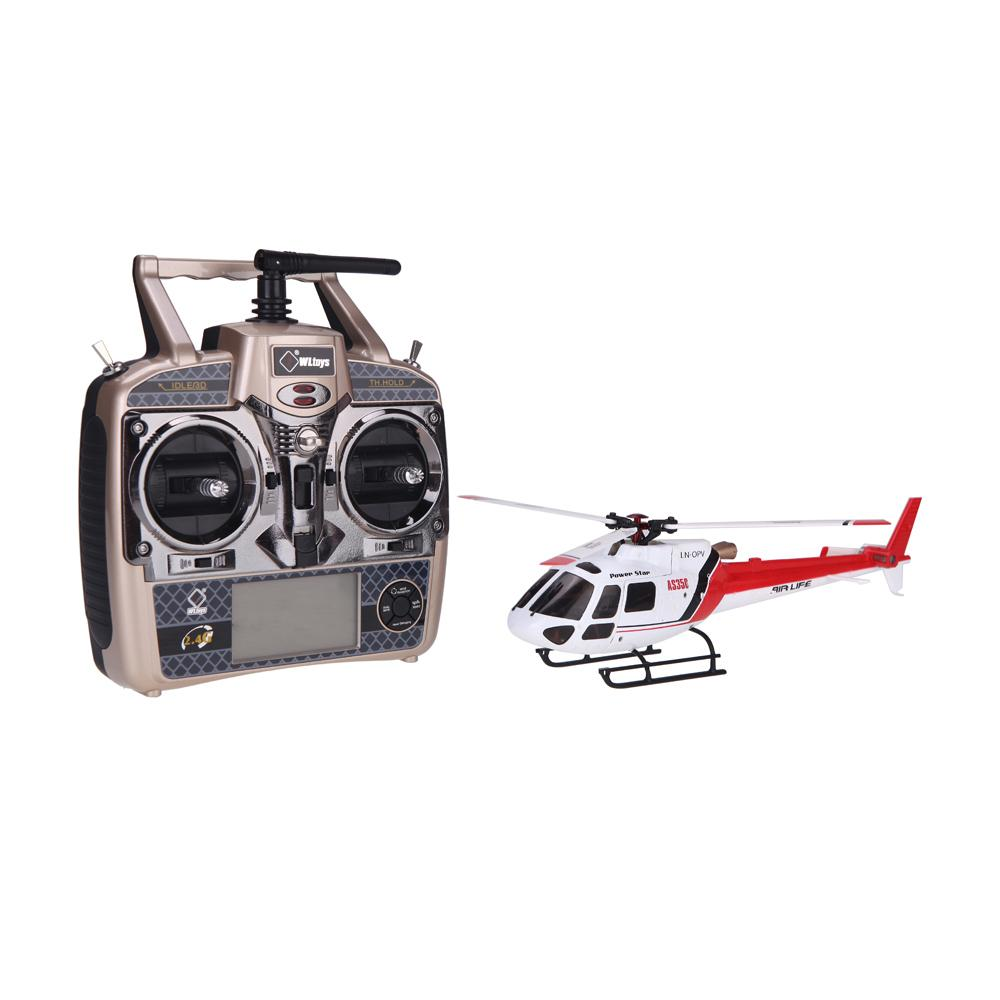 Original Wltoys V931 6CH Brushless Motor Flybarless with 3 Axis & 6 Axis Gyro 3 Blade AS350 Scale RC Helicopter order<$18no track