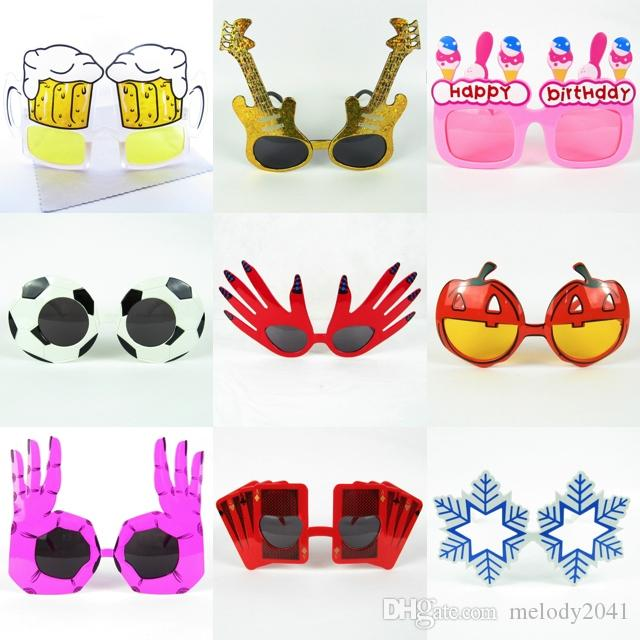 99a442af62 2019 Novelties Party Sunglasses Birthday Glasses Funny Eyewear Glasses  Snowflake Style Hand Dice Guitar Glasses Party Accessories From Melody2041