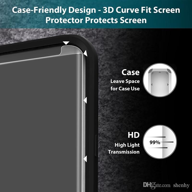زجاج لسامسونج غالاكسي note8 إيضاح 8 S8 بالإضافة إلى S7edge S6Edge 3D القضية ودية منحني خفف حامي حالة النسخة شاشة الهاتف
