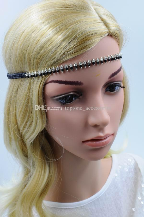 b8abfa01f85 2019 New Women Rhinestone Hairband Handmade With Crystal Braided Hair  Accessories Fashion High Quality Hair Jewelry For Wholesale From  Toptone accessories