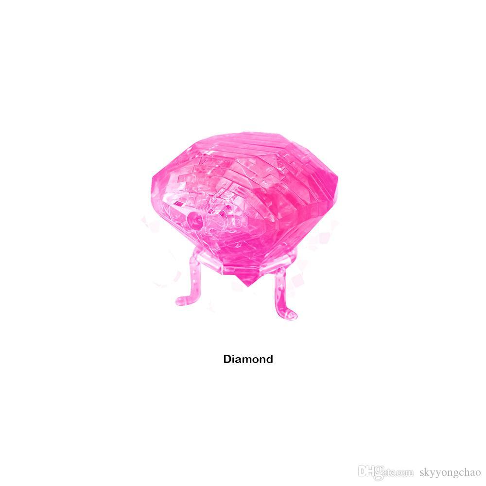 크리스탈 3D 다이아몬드 IQ 가제트 지그 소 퍼즐 귀여운