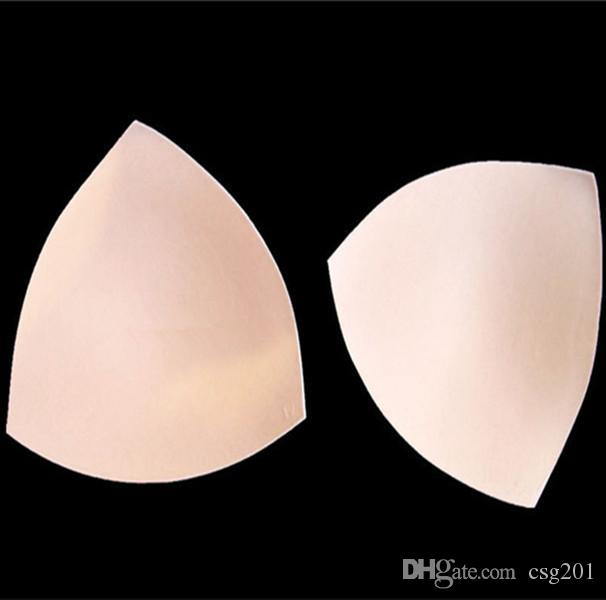 96d7679658fff 2019 Foam Bra Pads Triangle Shape Swimsuit Swimwear Bikini Padding Inserts  Push Up Breast Chest Cups Women Lady Soft Intimates Underwear From Csg201