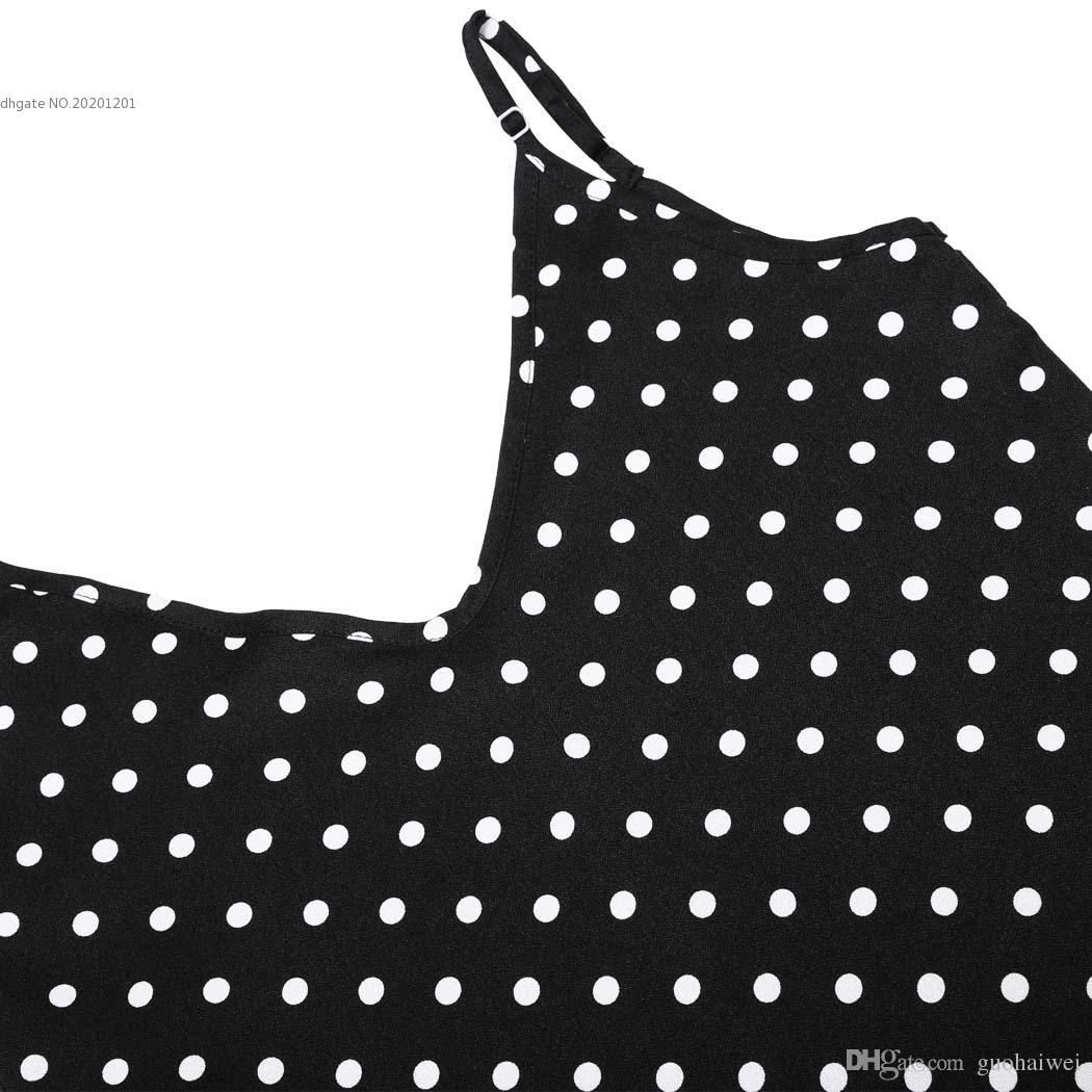 2016 패션 새로운 도착 여성 의류 섹시한 숙녀 캐주얼 V 넥 민소매 스파게티 스트랩 폴카 도트 여름 해변 긴 맥시 드레스