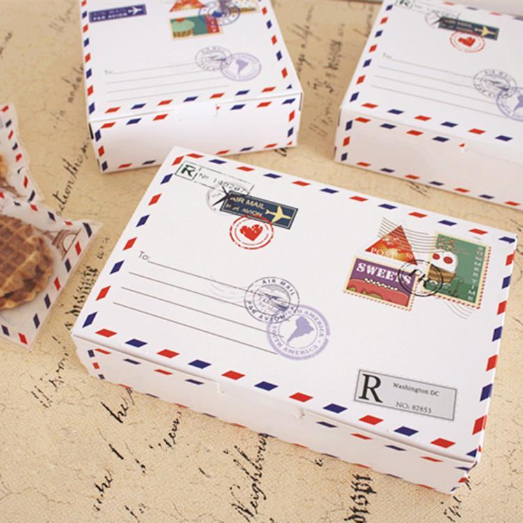 Cake Box Decoration Endearing 2018 Envelope Pattern Decoration Cake Box Long White Cookie 2018