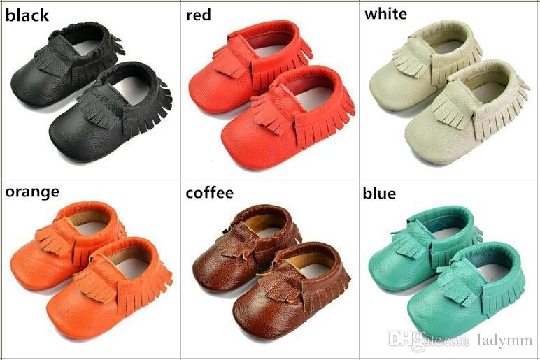 gros bébé mocassins doux en cuir moccs bébé chaussons enfant en bas âge chaussures 100% couche de peau de vache en cuir premier marcheur bébé chaussures /