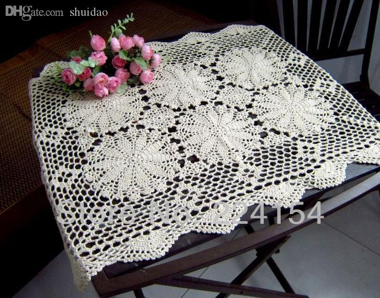 Wholesale 55x75 Cm Crochet End Table Cover Handmade Tablecloth