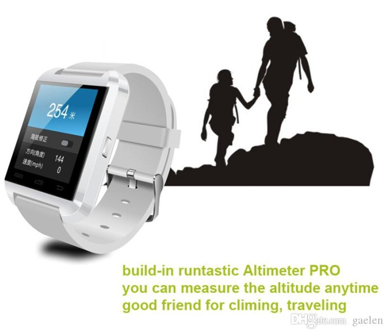 U8 Smart Watch Bluetooth Altimeter Anti-lost 1.5 inch Wrist Watch For Smartphones iPhone Android Samsung HTC Sony Cell Phones