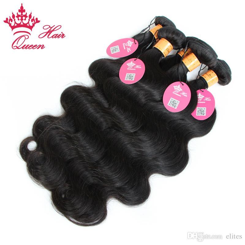 퀸 헤어 인도 바디 웨이브 많은 인도 처녀 인간의 머리카락 확장 12