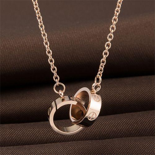 Wholesale Double Screw Pendant Jewelry Necklace Derivative