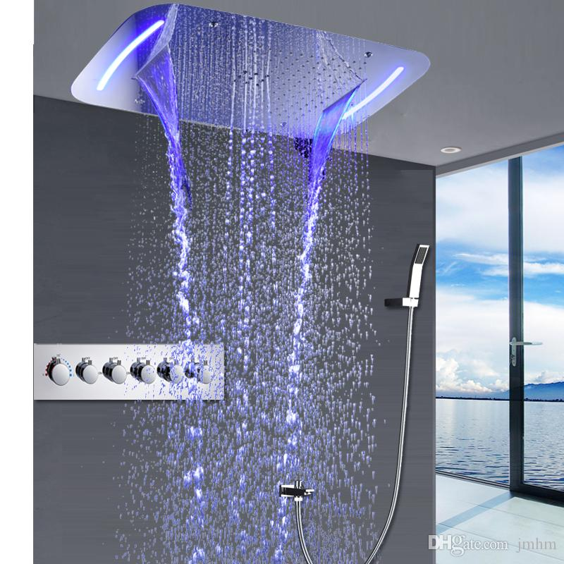 2019 Concealed Rain Shower Set Thermostatic High Flow Multifunction