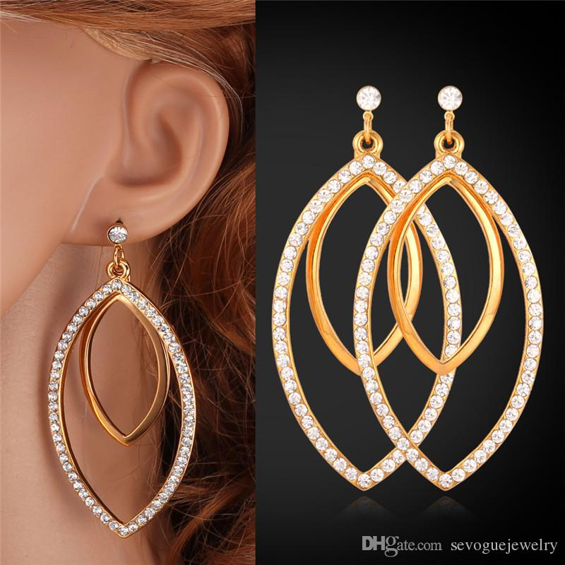 Best Quality Big Size Earrings Wholesale Price 18k Real Gold ...