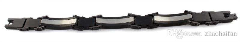 Bijoux ZHF 1.4 mm WIDE Bracelets lourds Bijoux haut de gamme Bracelet en acier de précision suisse Pierre CZ noire