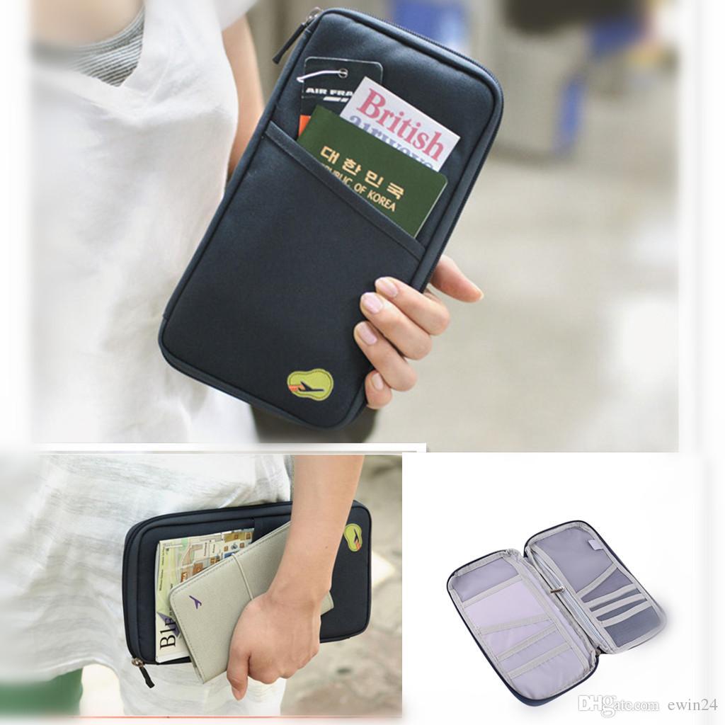 X Cartão de IDENTIFICAÇÃO de Viagem Passaporte Cartão de Crédito Em Dinheiro Titular Da Bolsa Da Carteira Caso Documento Organizador Bolsa Carteira
