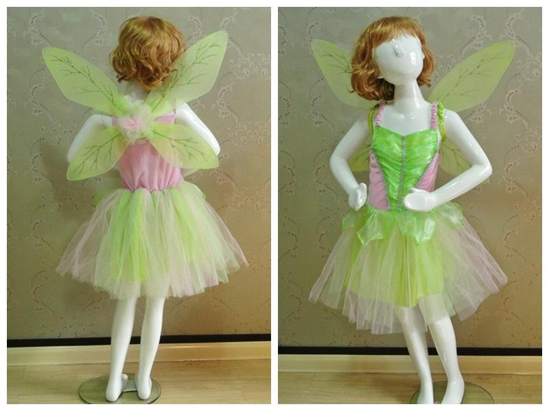 2018 Tinkerbell Costume Halloween For Kids Girl Dress And Wing Tinkerbell Fancy Dress Costumes For Baby Girls Fantasia Fancy Party Dress Up From The_one ... & 2018 Tinkerbell Costume Halloween For Kids Girl Dress And Wing ...