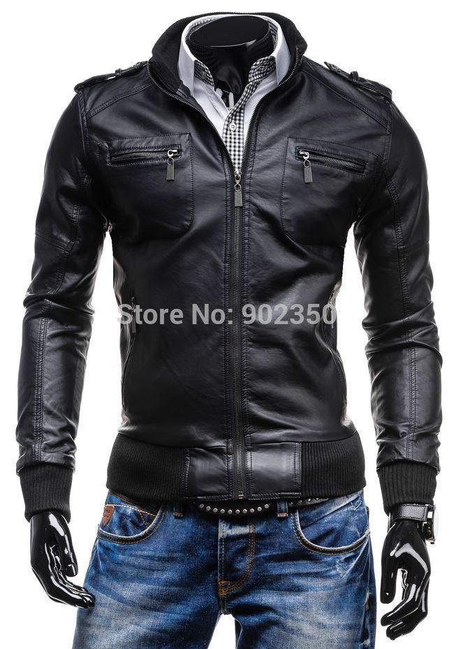 Hot Sale 2015 New Leather Jacket Men Fashion Quality Slim Sexy ...