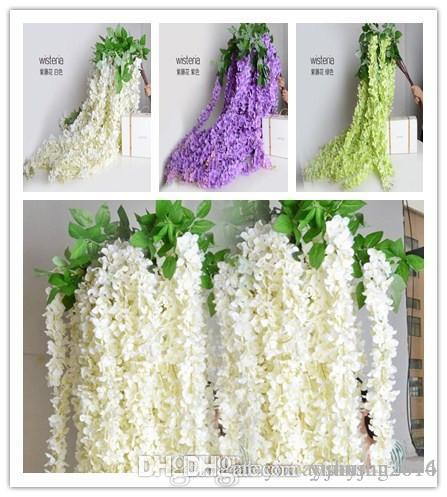 Best white green purple color bulk silk flowers bush wisteria best white green purple color bulk silk flowers bush wisteria garland hanging ornament for garden home wedding decoration supplies under 533 dhgate mightylinksfo