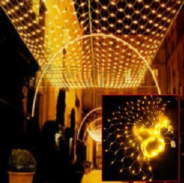 holiday christmas lights led net light flashing lights string lights all over the sky star head 15 m 15m 96led fishing nset ac110v 250v string bulb