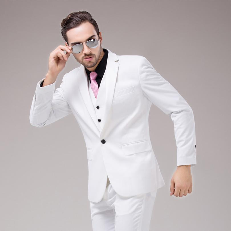 Colorful Luxury Mens White Suits Jacket Pants Formal Dress ...
